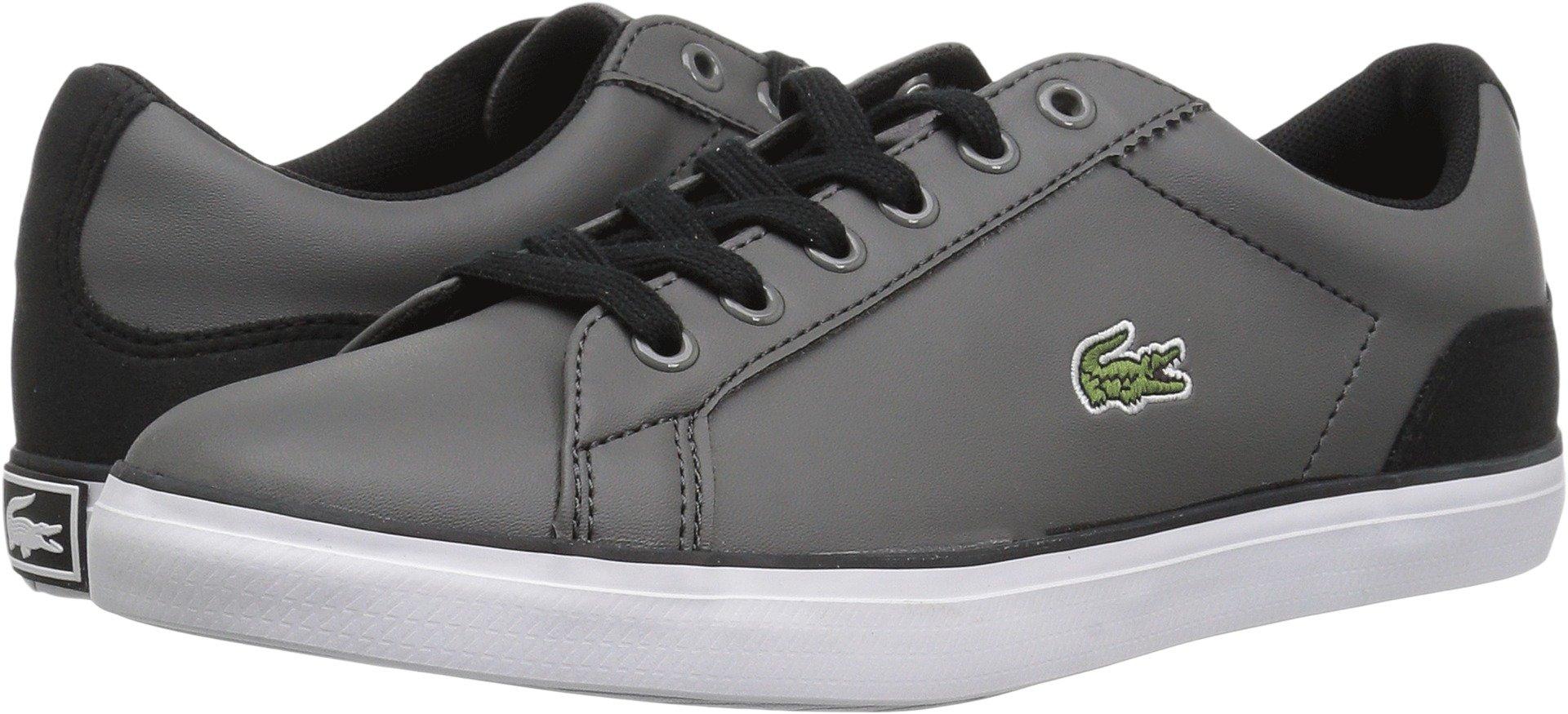 Lacoste Unisex-Kids Lerond 417 2 CAJ Sneaker, Dark Grey, 3.5 M US Big Kid