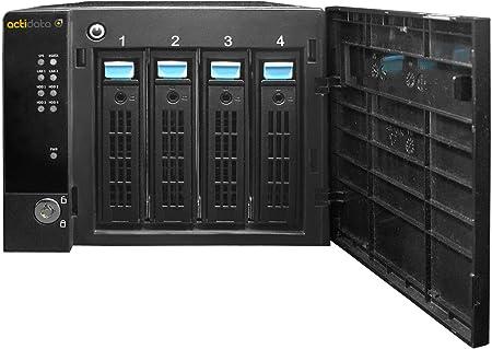 Actidata actiNAS Cube Mini 4 Ethernet Torre Negro NAS - Unidad Raid (Unidad de Disco Duro, Serial ATA II, 3.5