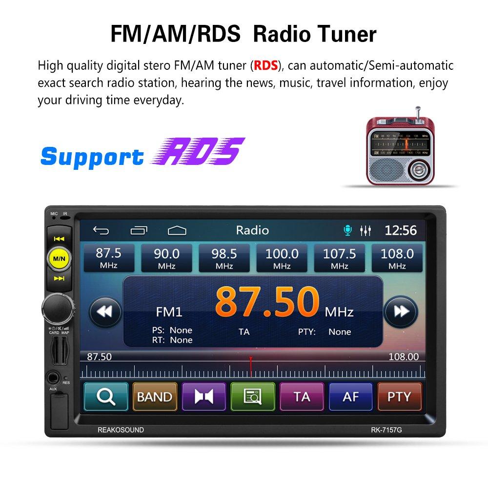 Reakosound 7157G Lecteur multim/édia MP5 avec /écran 7/pouces//connecteur USB arri/ère//fonction de charge//fonction GPS