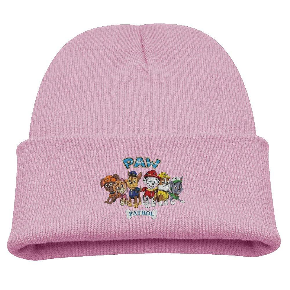 Paw Patrol Group Warm Winter Hat Knit Beanie Skull Cap Cuff Beanie Hat Winter Hats Boys Larenoto