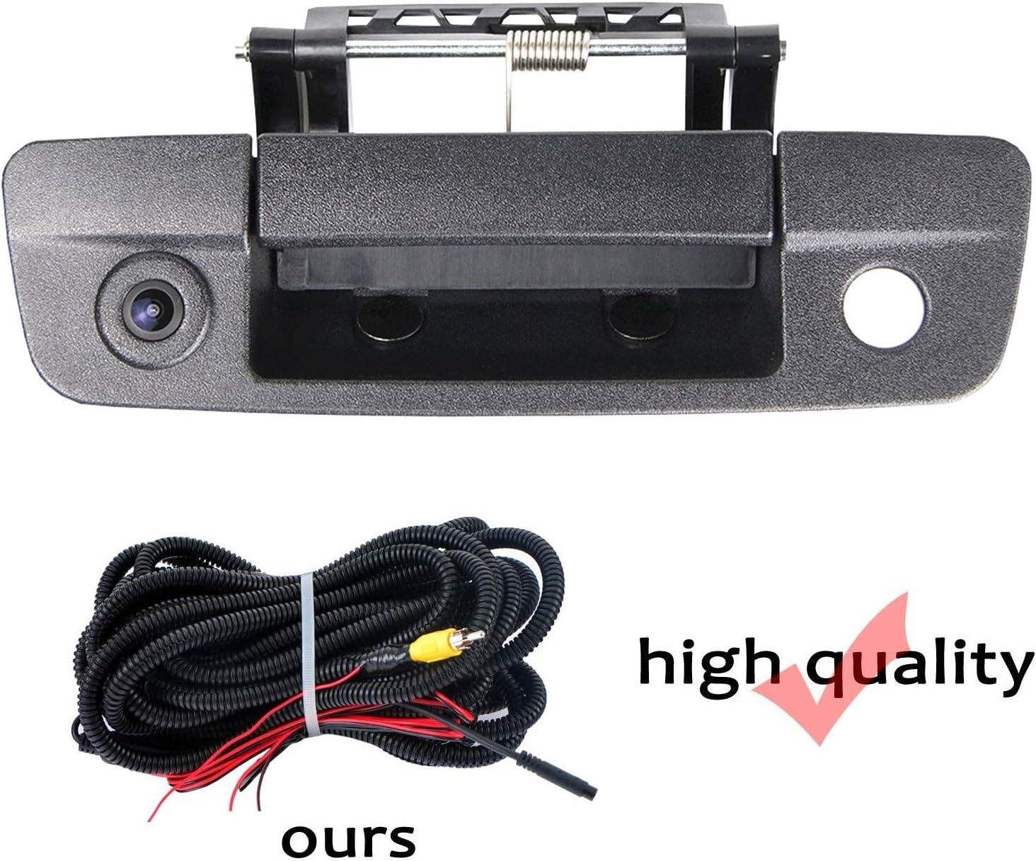 HD 1280x720p Rear Reversing Backup Camera Rearview Tailgate Handle Replacement Camera Night Vision Ip69k Waterproof for Pick-up Dodge Ram 1500 2500 3500 2009-2012
