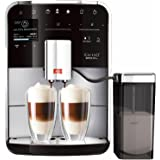 Melitta Barista TS F750-201, Bean to Cup Coffee Machine, Venturi, One Touch and Touch & Slide Functions, Milk Container Included, Silver/Black