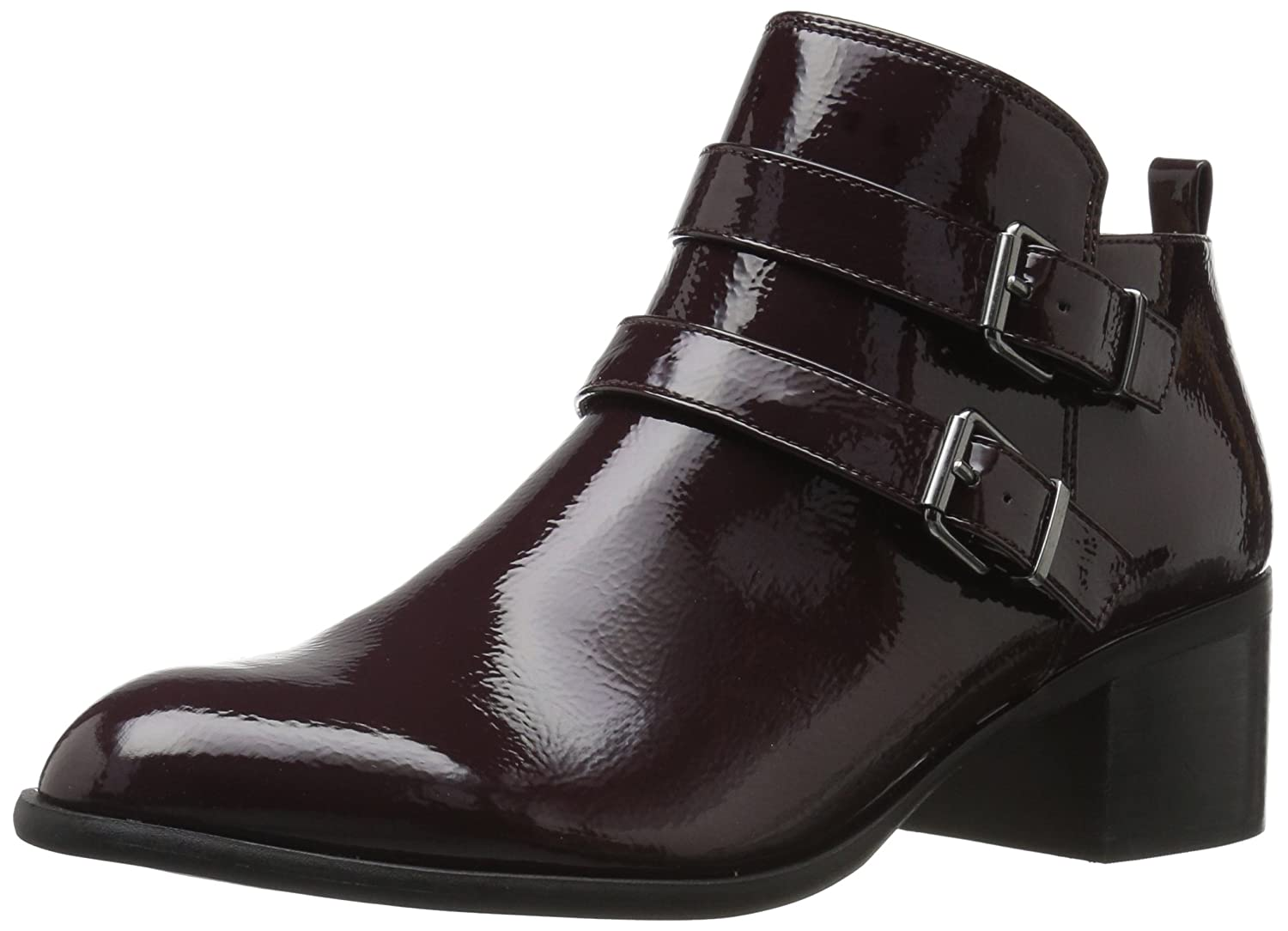 Franco Sarto Women's Raina Ankle Boot B07193LS77 8 W US|Dark Burgundy