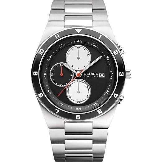 BERING Reloj Analógico para Hombre de Energía Solar con Correa en Acero Inoxidable 34440-702: Amazon.es: Relojes