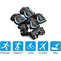 Skateboard Protective Gear Knee Elbow Wrist Pads Safe Guard Equipment for Bicycle Roller Skating Scooter with Size S M L