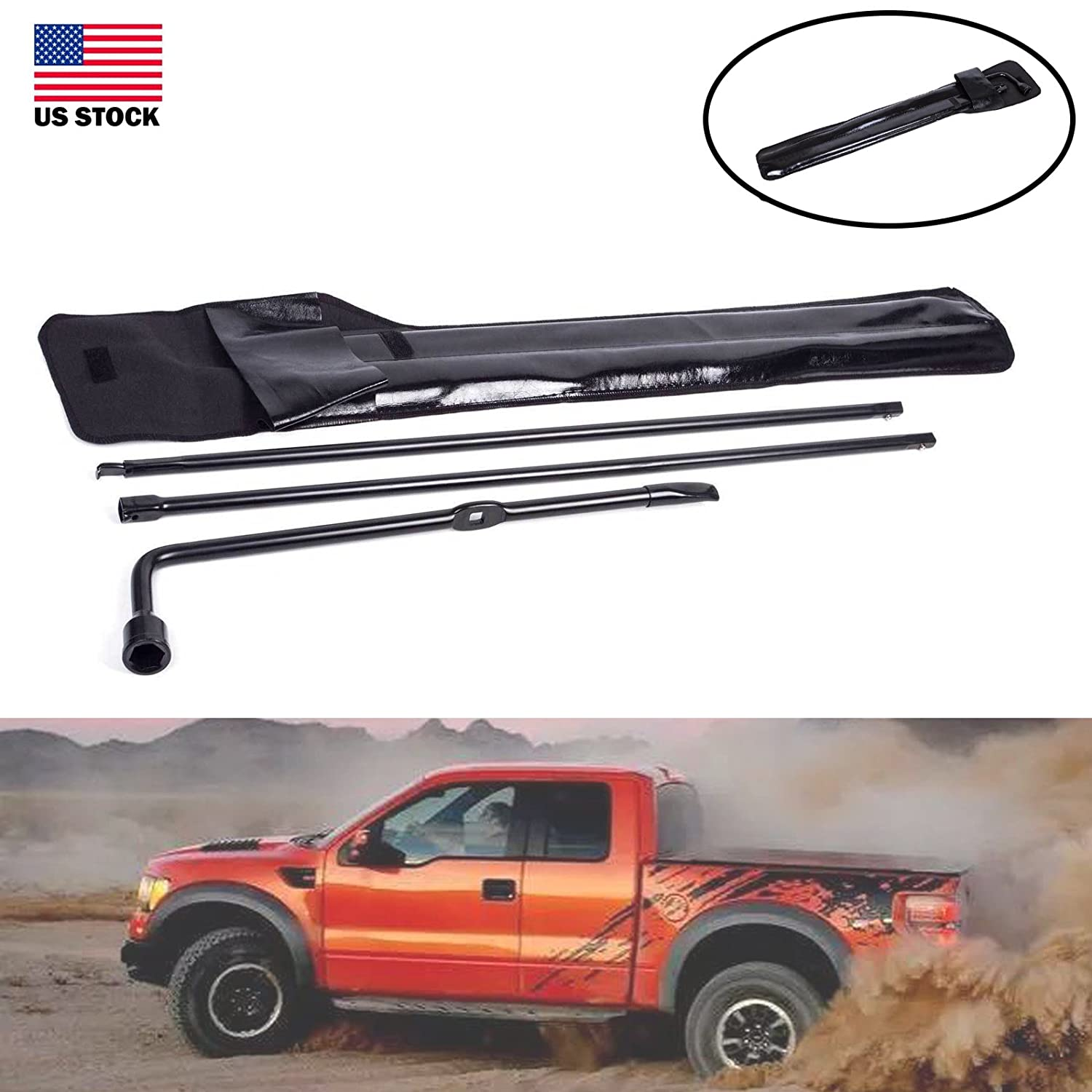 For Ford F250 F350 F450 F550 Super Duty 03-07 Portable Wrench Set Kit with Carry Case OEM Care Tire Removal Tool DICN Factory 4333085344