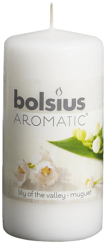 Bolsius 8717847059246 Candela Alta Giglio di Valle, Cera, Bianco, 6 x 6 x 12 cm 103626640103