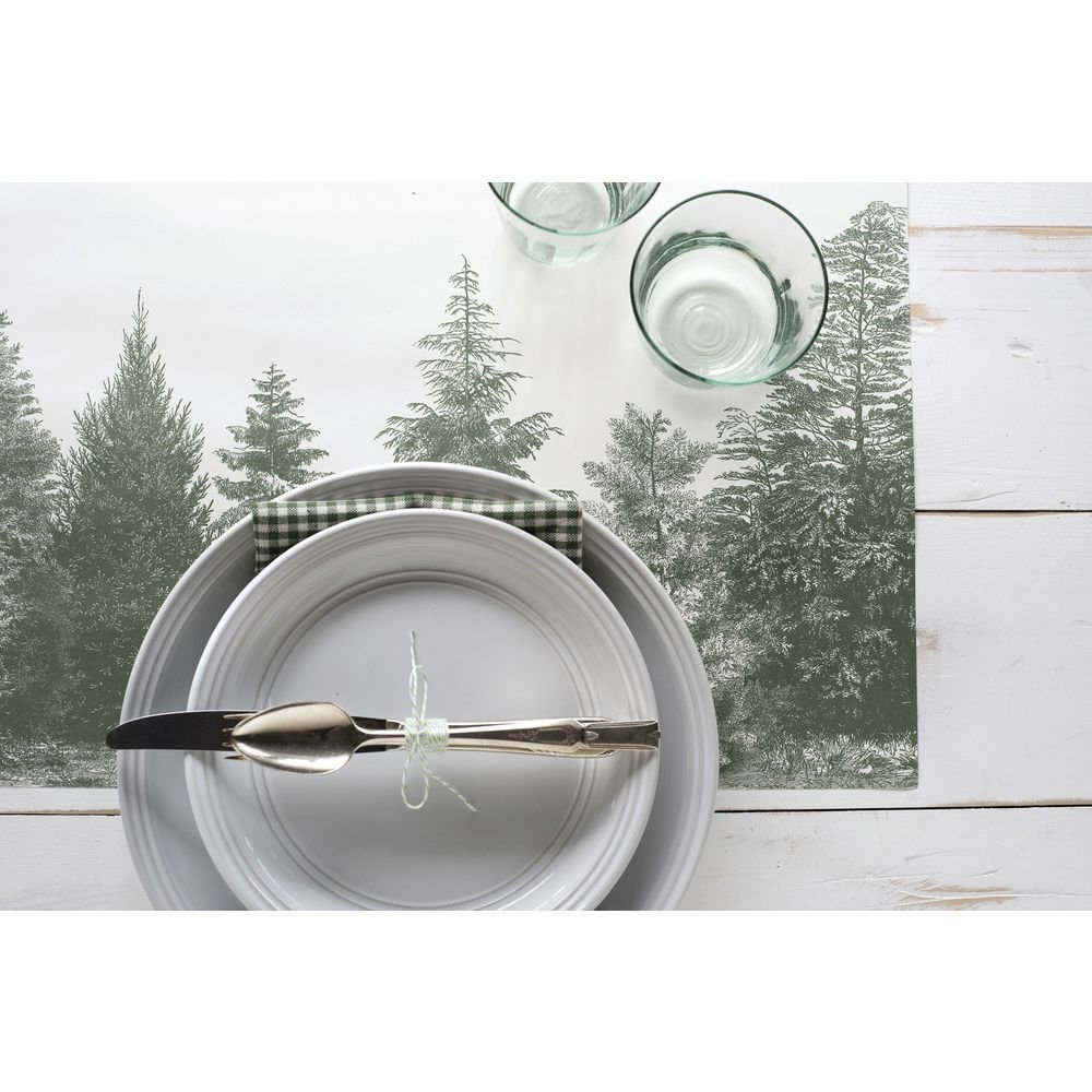 Evergreen Paper Placemats 30 Sheets American Made Hester /& Cook Design Group KP1101