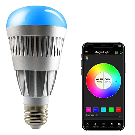 save off a211a 65adf MagicLight® Pro - Bluetooth Smart LED Light Bulb - Smartphone Controlled  Dimmable Multicolored Color Changing Lights - Works with iPhone, iPad, ...