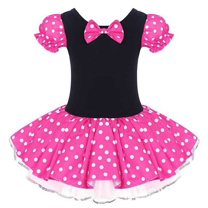4ad19a3ff OwlFay Girls Polka Dots Dress up Costume Princess Birthday Party Pageant  Tutu Skirt for Kids Photo