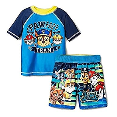 a5d4412928 Image Unavailable. Image not available for. Color: Nickelodeon Paw Patrol  Toddler Boys Rashguard & Trunk Set ...