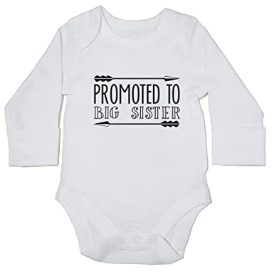 2015131f1 Hippowarehouse Promoted to Big Sister Baby Vest Bodysuit (Long Sleeve) Boys  Girls: Amazon.co.uk: Clothing