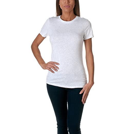 259a19f3 Next Level Apparel Women's 6710 Tri-Blend Crew, Classic Heather White, Small