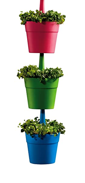 Keter Rainbow IndoorOutdoor Garden Planters Multi Colour Set