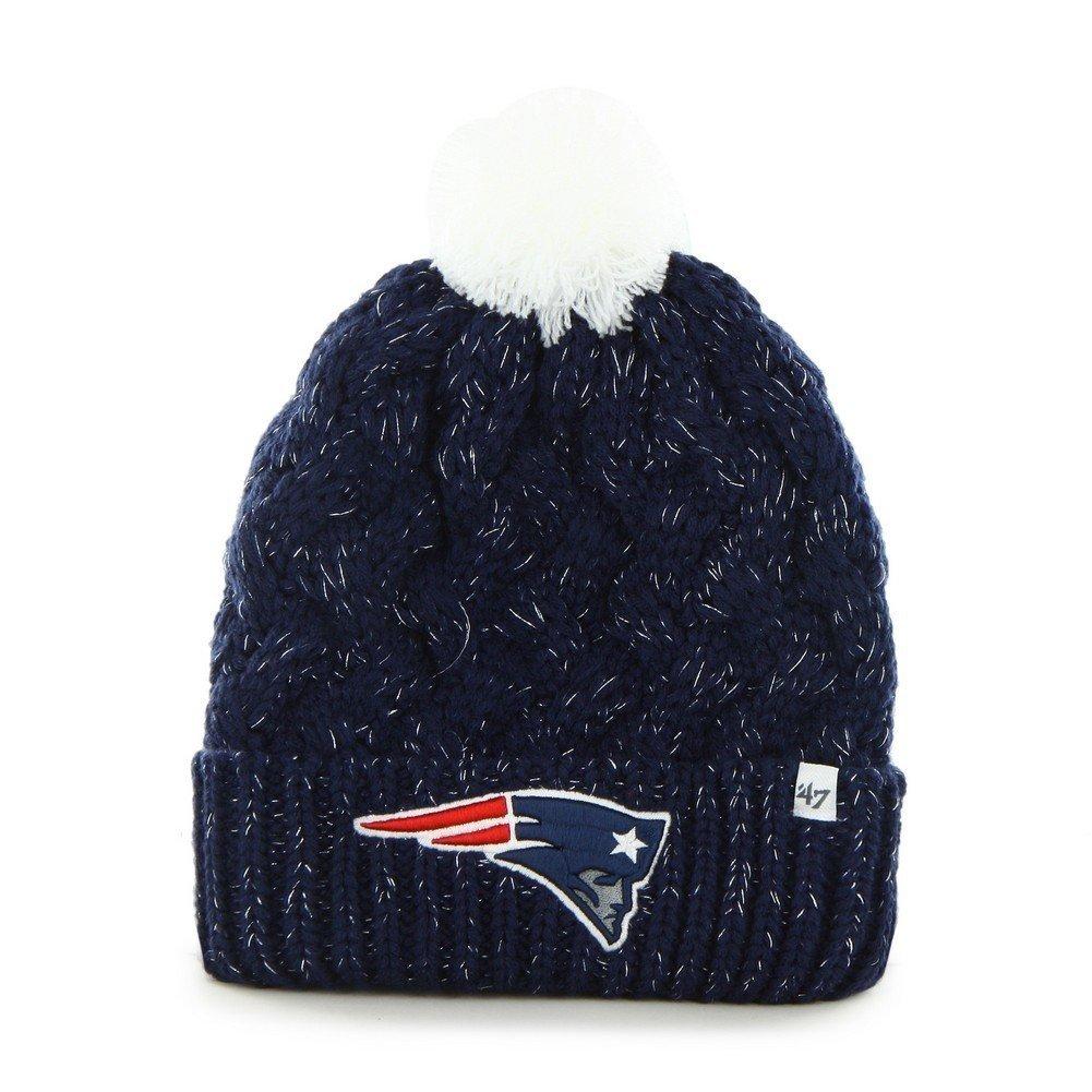 Amazon.com   New England Patriots  47 Brand Fiona Beanie Crochet Hat - NFL  Women s Cap   Sports   Outdoors 7ef727b6b70