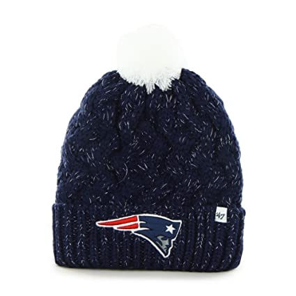 Amazon.com   New England Patriots  47 Brand Fiona Beanie Crochet Hat ... a729c7a547