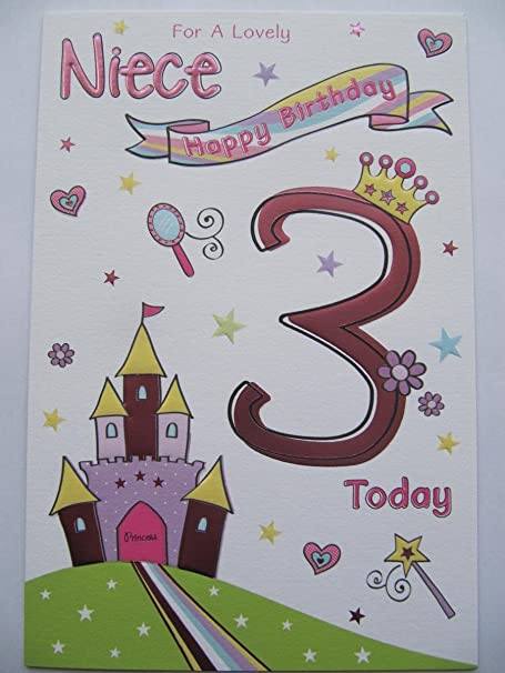 Wonderful colourful embossed lovely niece 3 today 3rd birthday wonderful colourful embossed lovely niece 3 today 3rd birthday greeting card m4hsunfo