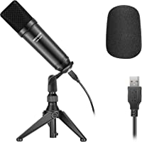 Neewer USB200 USB Microphone Kit 192KHz/24Bit Plug&Play Cardioid Podcast Condenser Mic with Professional Sound Chipset…