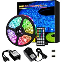Led Lights, Led Strip Lights,5M 150 LEDs 5050 RGB Rope Lights, IP20 Non Waterproof Color Changing with 20 Colors 8 Light…