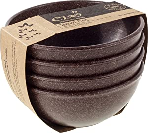 EVO Sustainable Goods 16 oz. Bowl Set, Dark Brown