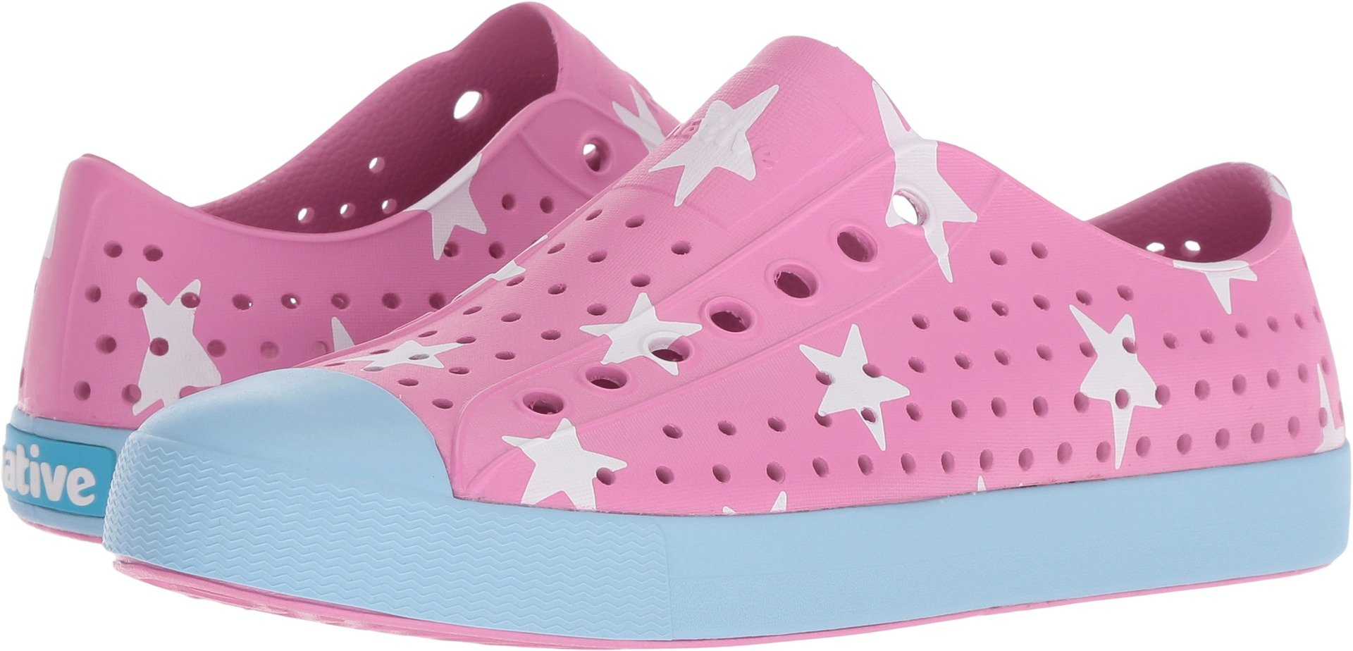 Native Shoes Jefferson Water Shoe, Malibu Pink/Sky Blue/Big Star, 9 Men's M US