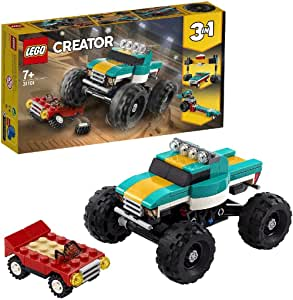 LEGO Creator 3in1 Monster Truck Toy 31101 Cool Building Kit for Kids