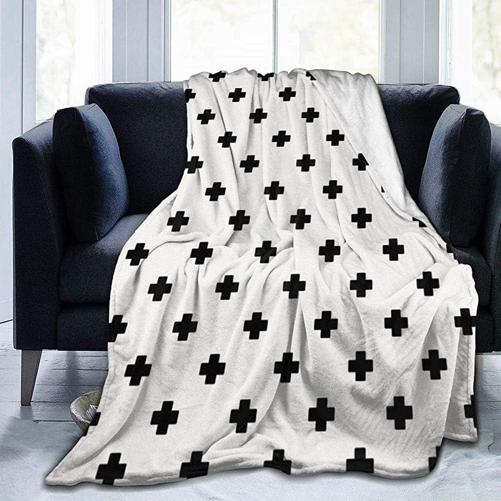 Coperta in Micro Pile ultramorbida, coperta Bianca svizzera Croce per Bambini adulti [127X153Cm]