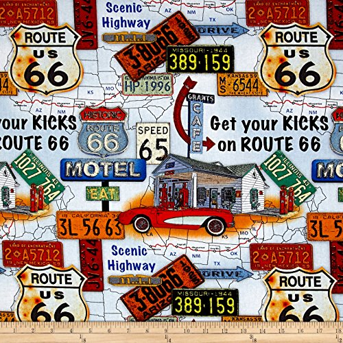 Route 66 Fabric - 9