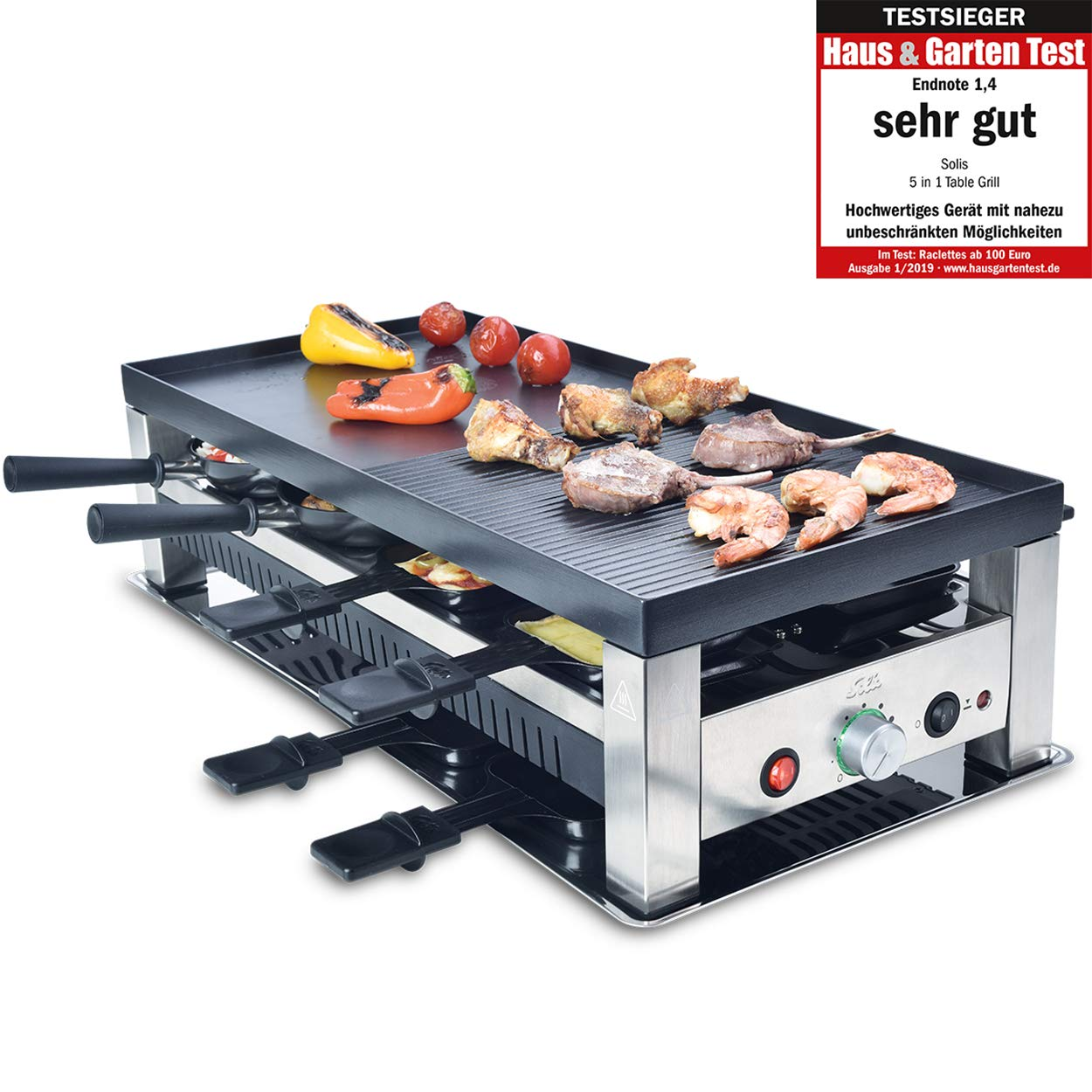 Solis Table Grill 5 in 1 Parrilla Mesa Eléctrico 1400W Negro ...