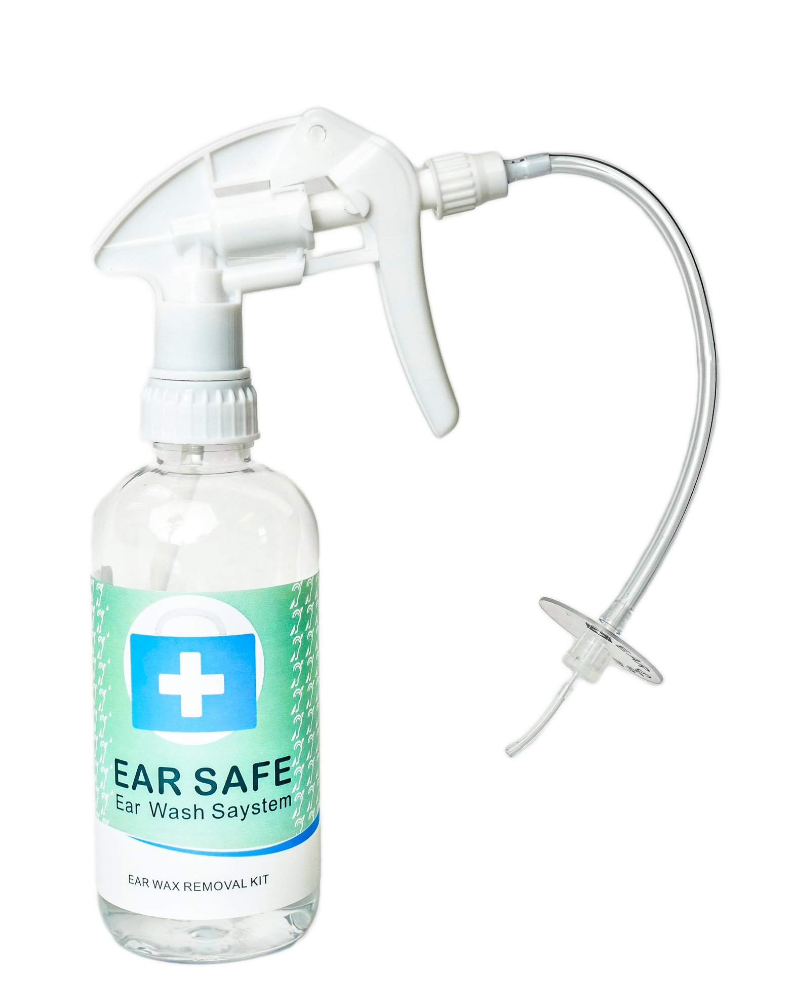 Ear Wax Removal System - Ear Safe - Ear Wash Kit - Complete Ear Irrigation Bottle with 4 Tips