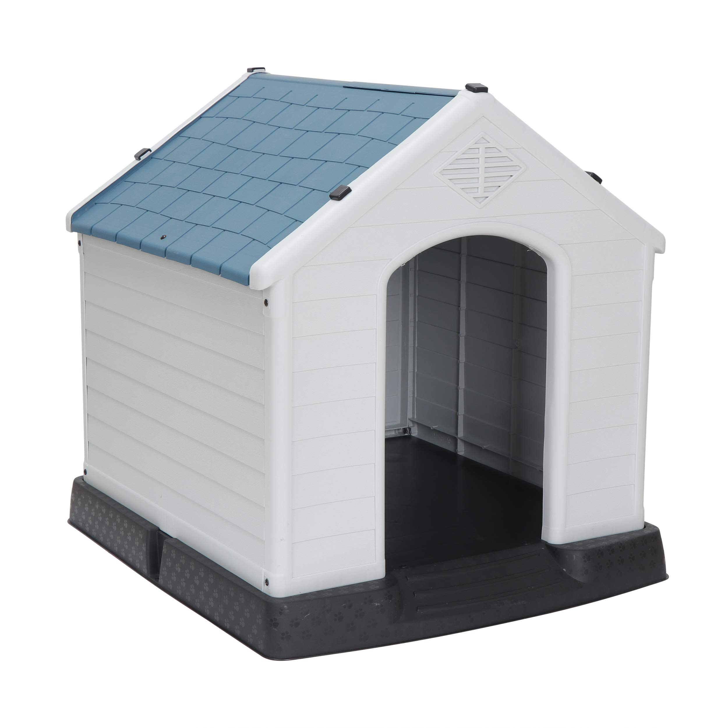 ZENY Plastic Dog House - Water Resistant Dog Kennel for Small to Large Sized Dogs All Weather Indoor Outdoor Doghouse Puppy Shelter by ZENY