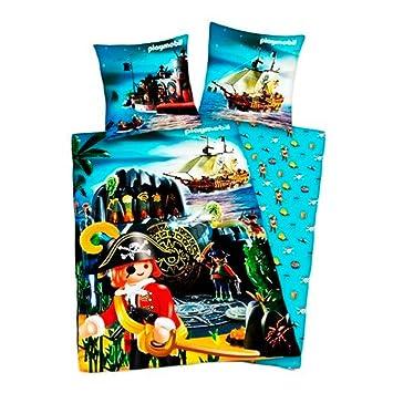 Parure de lit lit lit Housse de couette   PLAYMOBIL   PIRATE GRAND MOTIF 017793