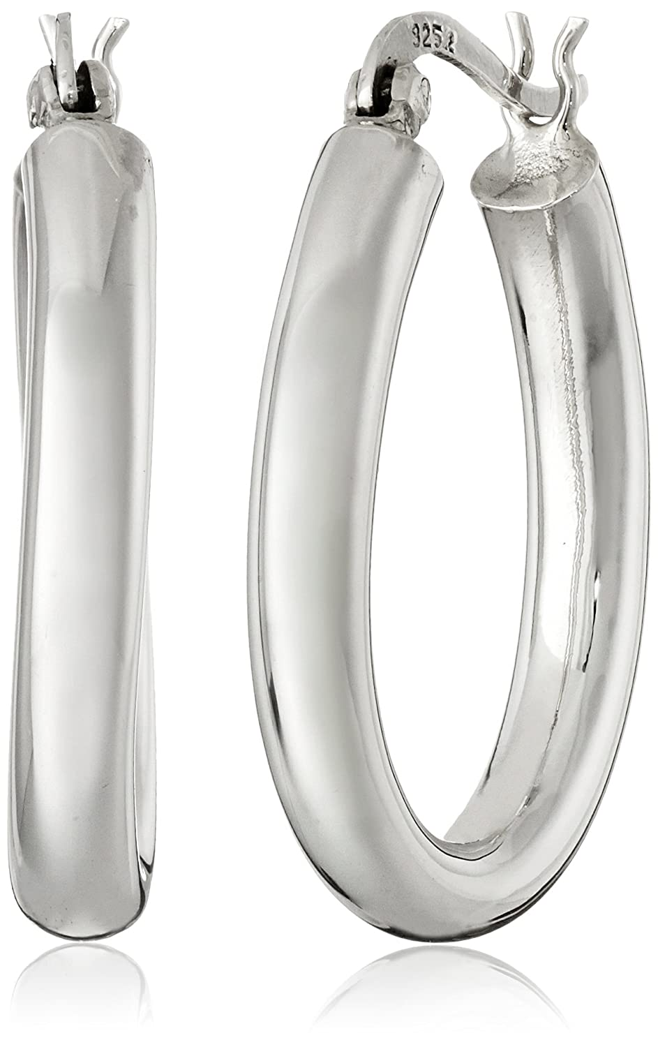 default earrings diamond signature sharis collection l hoop oval jewelry