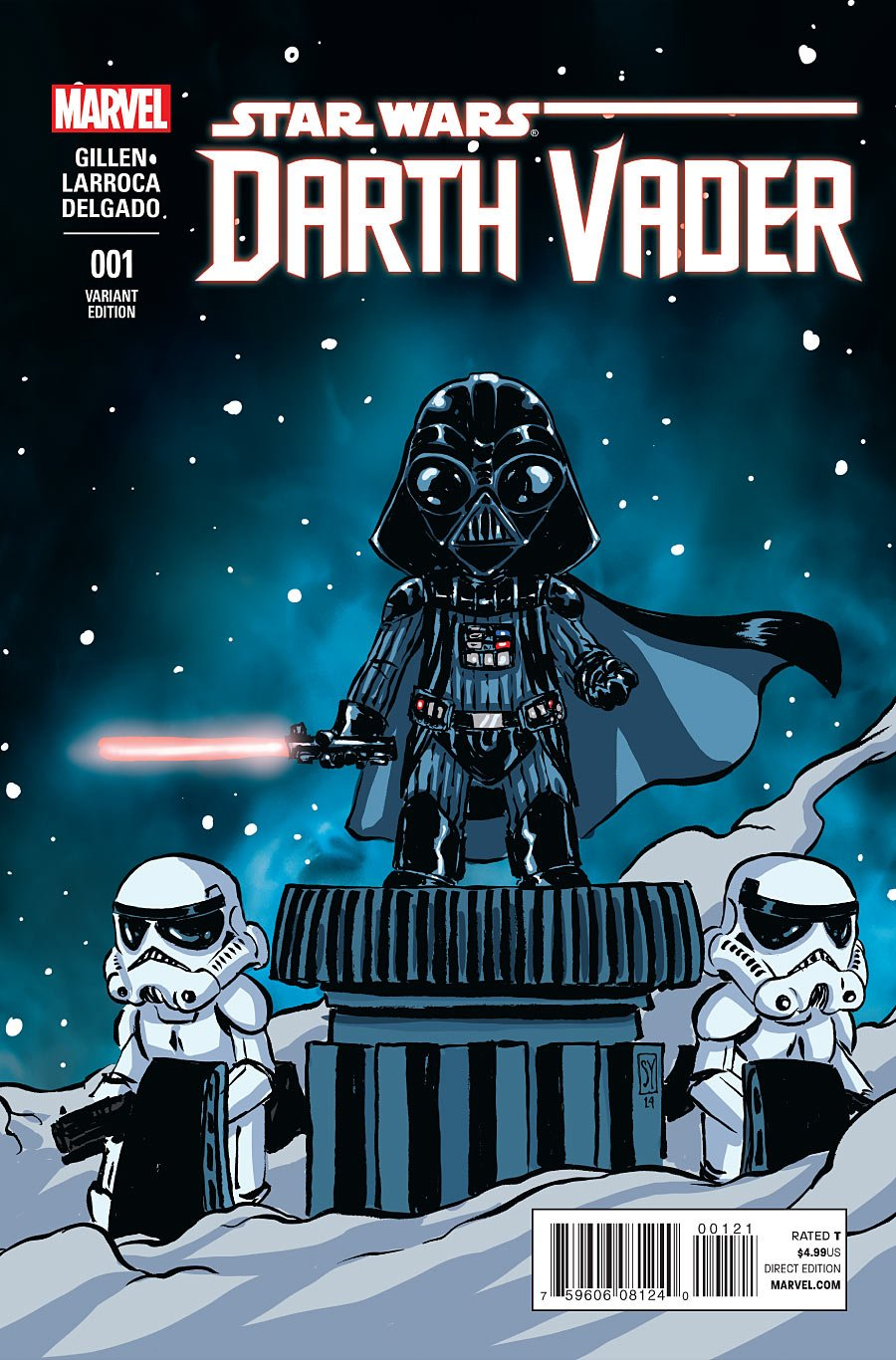 Download Darth Vader #1 Cover F Variant Skottie Young Baby Cover pdf