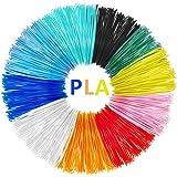 Filamenti Penna 3D, Tecboss PLA Filamento 1.75mm, 10 Colore Materiali 3D Filamenti per la Stampa 3D Hobby Creativi, Niente Bolle D'aria, Insapore