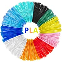 3D Printing Filament, 10 Packs PLA 3D Pen Filament Refills, No smells and easy to peel off filament for 3D Printer 5m Length, No bubbles, 1.75mm, Colourful