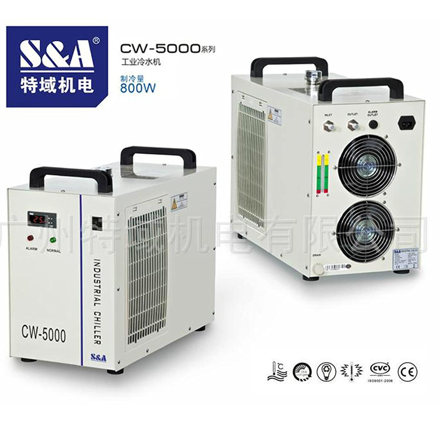 Industrial Water Chiller Cool 80W 100W CO2 Laser Tube CNC CW-5000BG 220V 60HZ