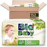 Pañales BioBaby Talla 4 Grande Unisex, 152 piezas