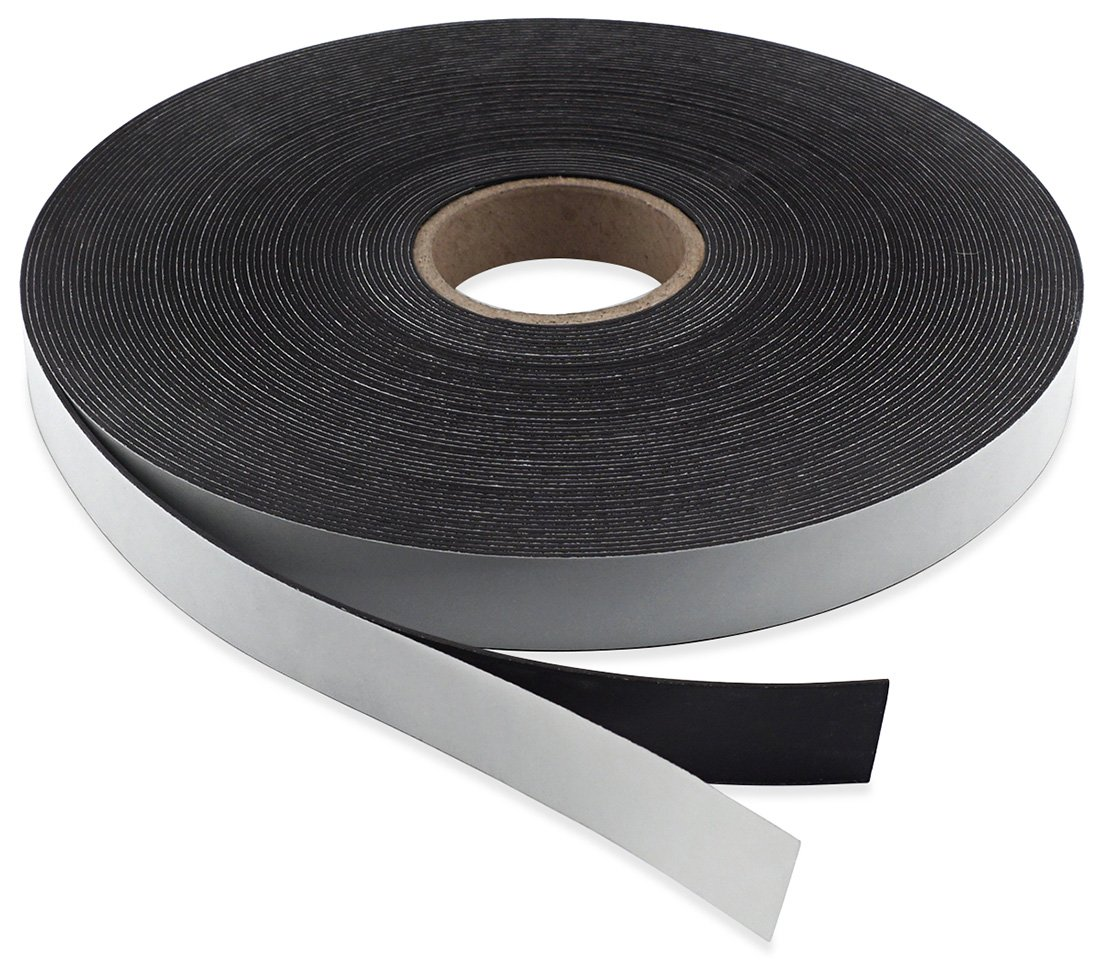 1//16 Thick 100 Feet 3//4 Wide Master Magnetics Flexible Magnet Strip with Adhesive Back 1 Roll