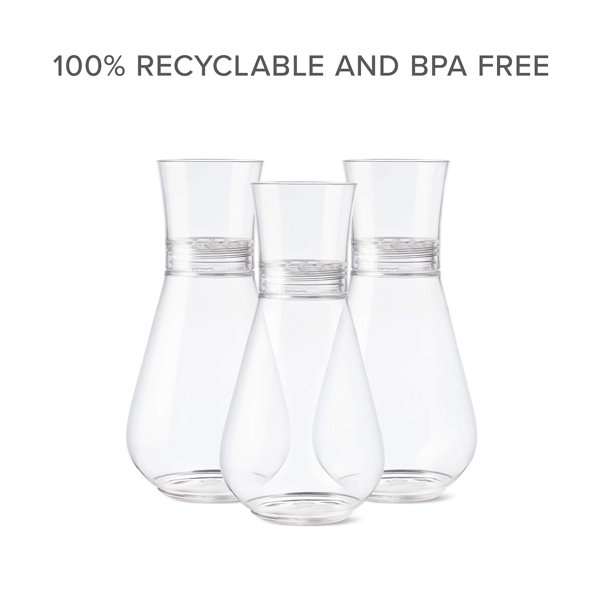 TOSSWARE 28oz Decanter plus Aerator- recyclable plastic decanter- SET OF 1- shatterproof and BPA-free Aerating Decanter by TOSSWARE (Image #6)