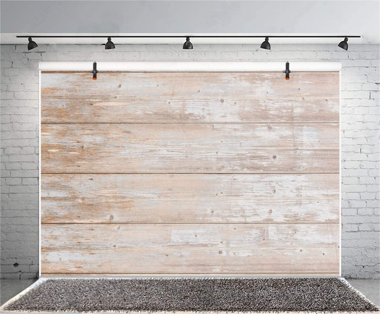 Polyester 7x5ft Grunge Faded Lateral-Cut Wood Texture Plank Photography Background Rustic Wooden Board Backdrop Children Adult Pets Personal Portrait Shoot Wallpaper Live Show