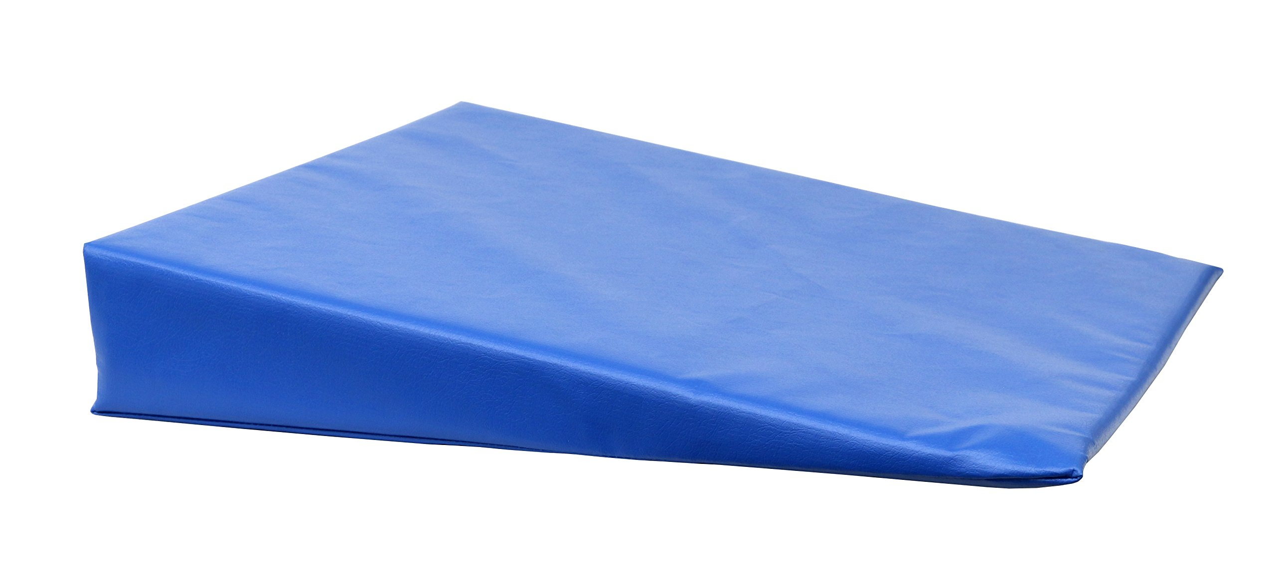 CanDo 31-2000S Positioning Wedge, Foam with Vinyl Cover, Soft, 20'' x 22'' x 4'', Royal Blue by Cando