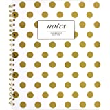 Cambridge Business Notebook, Hardcover, 80 Sheets, 11 x 8-7/8, Fashion, Gold Dot (59014)