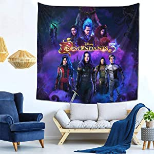 TMDCWLD Decor Tapestries Descendants 3 Wall Tapestry Pictures Art Nature Home Decorations Dorm Decor Tapestries One Size