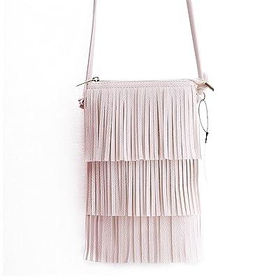 1b9b56985544 Solme Hot Sale Mini Tassel Women Handbags Messenger Bag Ladies Crossbody Bag  Vintage Small Phone Bag