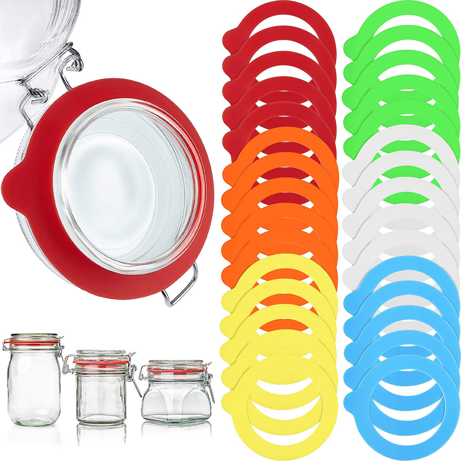 10Pcs Silicone Jar Gaskets Seals Rings Replacement For Regular Mouth Canning Jar