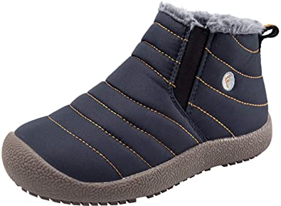 870894648673 Spesoul Kids Winter Warm Snow Boots Outdoor Fur Lined Lightweight Ankle  Booties Sneakers Shoes for Girls