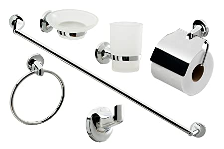 Lovely Cassellie 0908001 6 Piece Bathroom Accessories Set Metal Images
