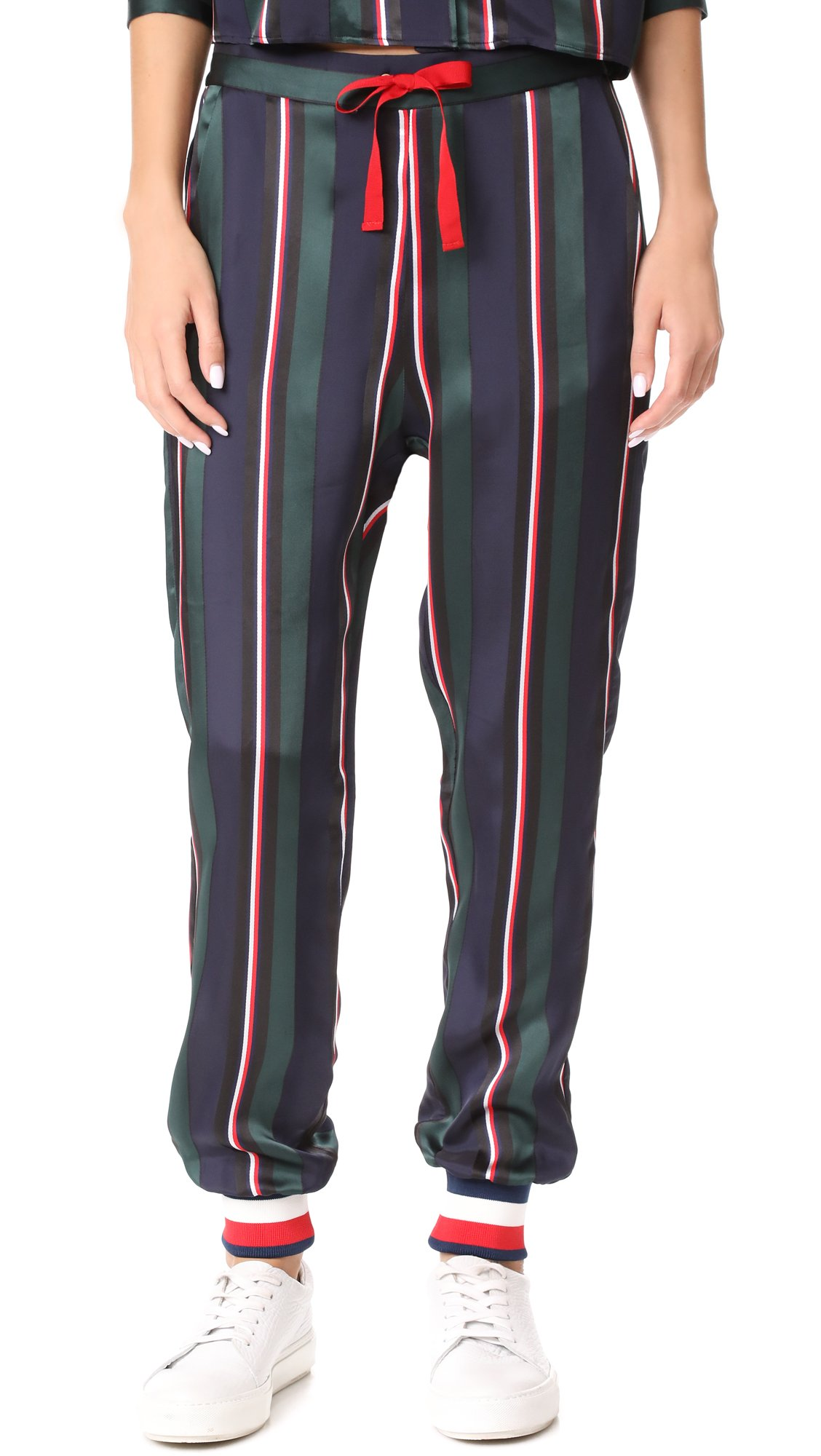 Hilfiger Collection Women's Pull On Pyjama Pants, Peacoat/Multi, 8