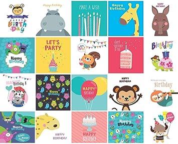 Amazing 20 X Childrens Birthday Cards Multi Pack Square Cards 15Cm X Funny Birthday Cards Online Alyptdamsfinfo